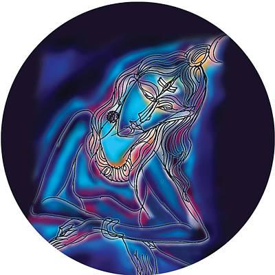 Blue Shiva Light Poster