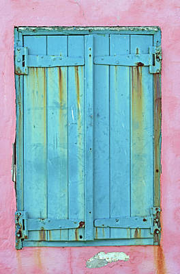 Blue Shutters No. 43-1 Poster by Sandy Taylor