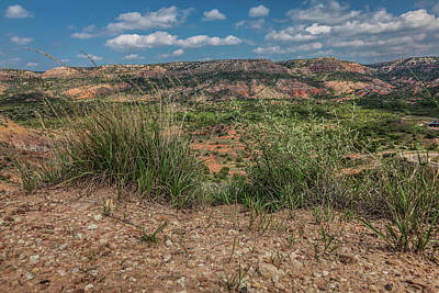 Blue Skies Over Palo Duro Canyon Poster