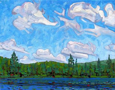 Blue Sky Lake Poster by Phil Chadwick