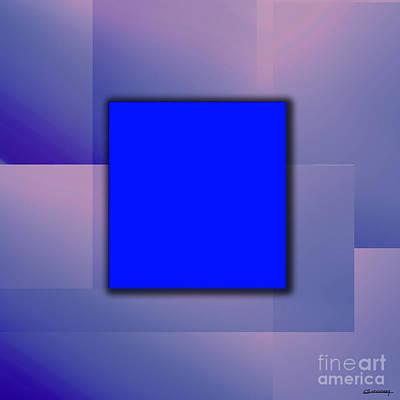 Blue Square Poster