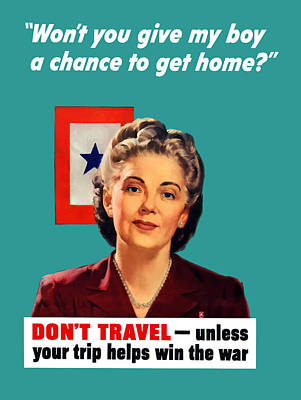 Blue Star Mother -- Ww2 Poster by War Is Hell Store