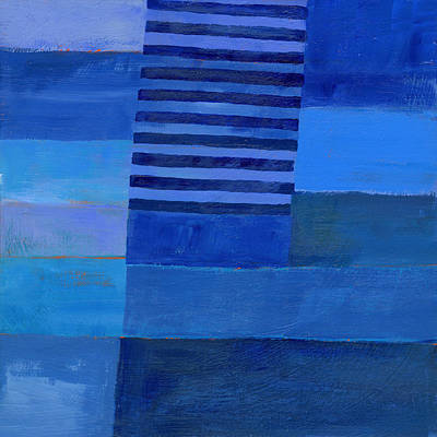 Blue Stripes 7 Poster by Jane Davies