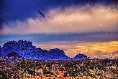 Blue Sunset Nm-az Poster by Diana Mary Sharpton