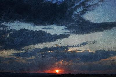 Blue Sunset Poster by Dorothy Berry-Lound