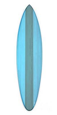 Poster featuring the digital art Blue Surf Board by Edward Fielding