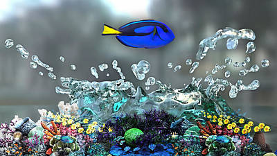 Blue Tang Collection Poster