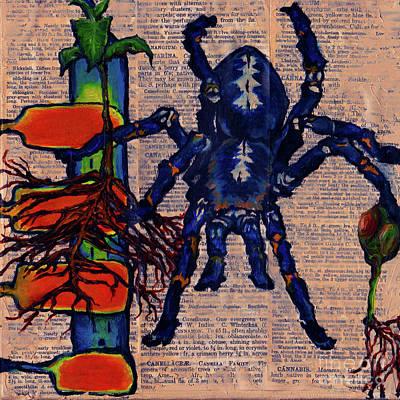 Blue Tarantula Poster
