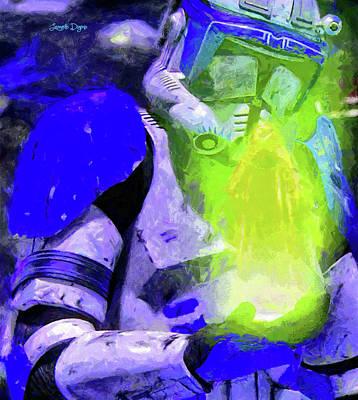 Blue Team Commander Receiving Order 66 Poster