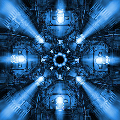 Blue Train Abstract 2 Poster by Mike McGlothlen