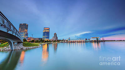 Blue Twilight In Milwaukee Poster