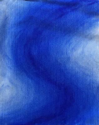 Blue Vibration Poster
