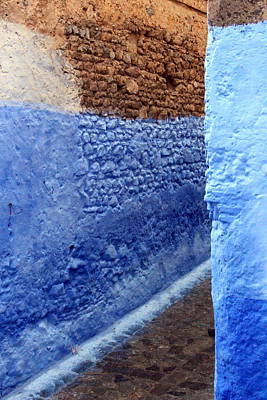 Poster featuring the photograph Blue Walls Of Chefchaouen by Ramona Johnston
