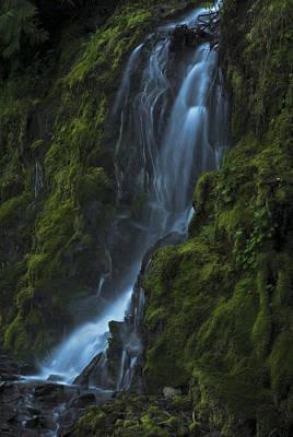 Blue Waterfall Poster by Yulia Kazansky