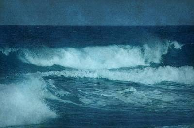 Blue Waves - Jersey Shore Poster by Angie Tirado