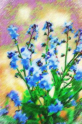 Poster featuring the photograph Blue Wildflowers by Donna Bentley