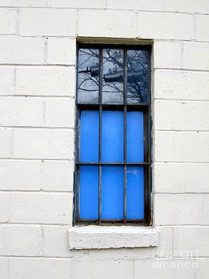 Blue Window Panes Poster