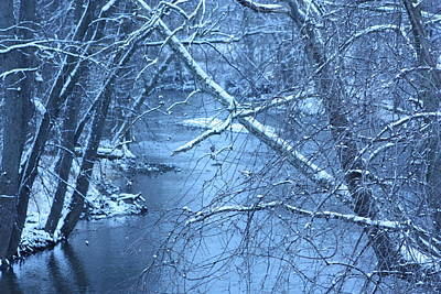Blue Winter Poster by Bruce McEntyre