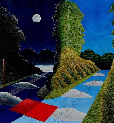 Blue Yonder Poster by Adrian Jones