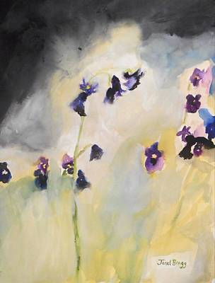 Bluebells And Pansies Poster by Janel Bragg