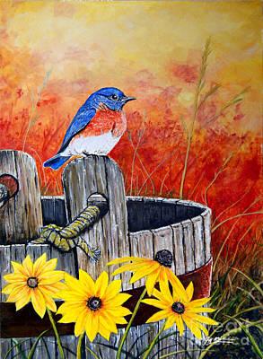 Bluebird Spring  Poster by Jeff McJunkin
