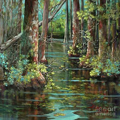 Bluebonnet Swamp Poster by Dianne Parks