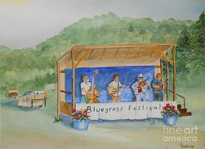 Bluegrass Festival Poster by Christine Lathrop