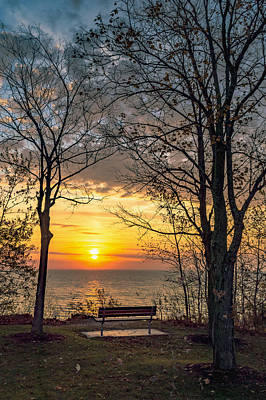 Bluff Bench Poster by James  Meyer