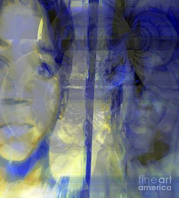 Blurism And Reflecting Shadow Poster by Fania Simon