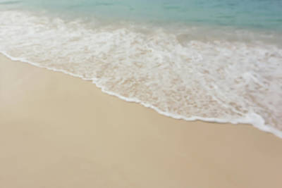 Blurred Beach Background Poster by Brandon Bourdages