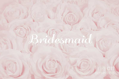 Blush Pink Bridesmaid Poster by Lucid Mood