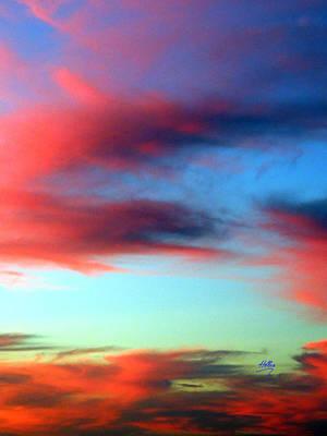 Blushed Sky Poster by Linda Hollis