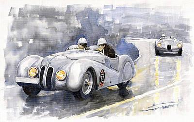 Bmw 328 Roadster Poster by Yuriy  Shevchuk