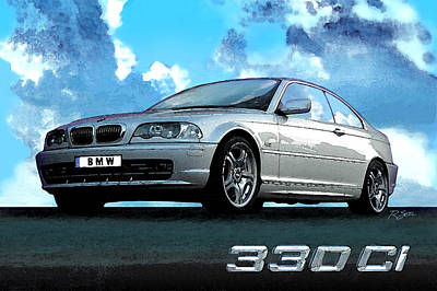 Bmw 330ci Poster by Rod Seel