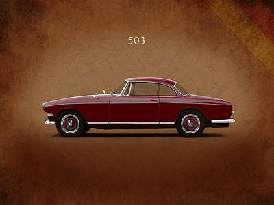 Bmw 503 Coupe 1956 Poster by Mark Rogan