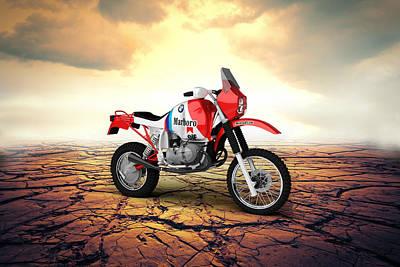 Bmw Gs980r Dakar 1985 Desert Poster by Aged Pixel