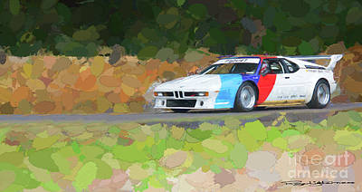 Bmw M1 Poster by Roger Lighterness