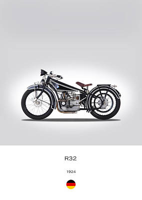 Bmw R 32 Poster by Mark Rogan
