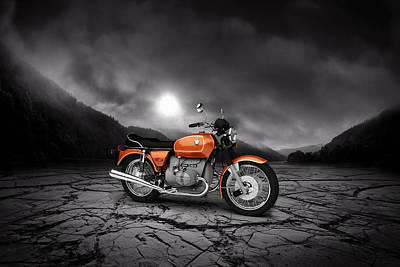 Bmw R90-6 1974 Mountains Poster
