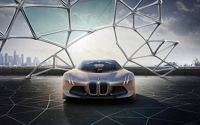 Bmw Vision Next 100 Future Car  Wide Poster
