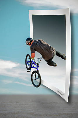 Bmx - Air Time Poster by Brian Wallace