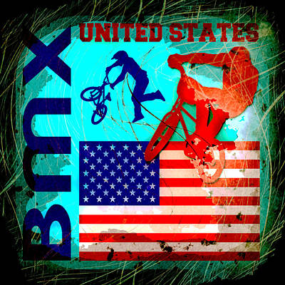 Bmx United States Poster by David G Paul