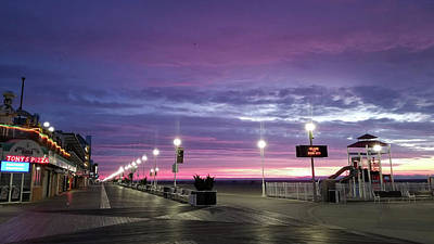 Poster featuring the photograph Boards Under Colorful Skies by Robert Banach