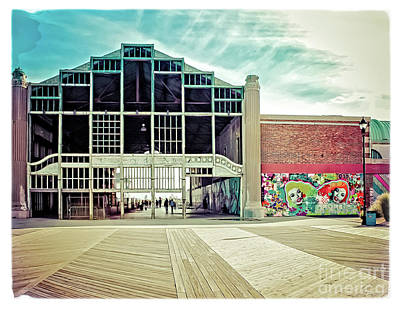 Poster featuring the photograph Boardwalk Casino - Asbury Park by Colleen Kammerer