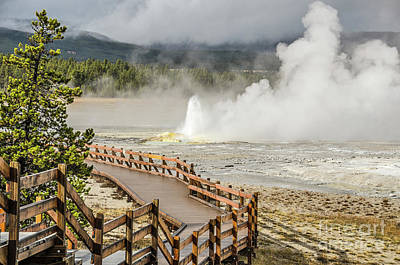 Poster featuring the photograph Boardwalk Overlooking Spasm Geyser by Sue Smith