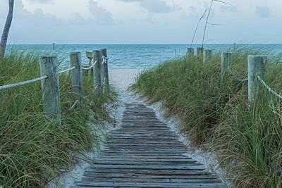Poster featuring the photograph Boardwalk To The Beach by Kim Hojnacki