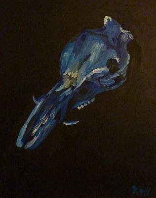 Poster featuring the painting Boar's Skull No. 2 by Joshua Redman