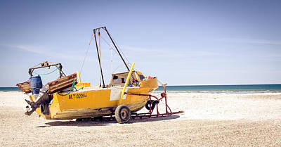 Poster featuring the photograph Boat And The Beach by Silvia Bruno