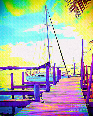 Boat At Sunset II Poster
