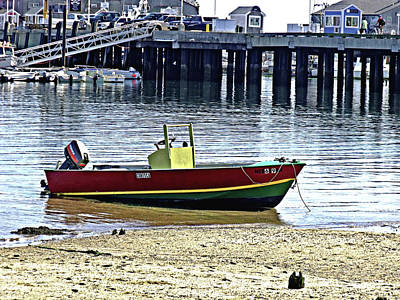 Boat At The Beach Provincetown Poster